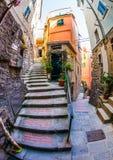 Alleyway di Vernazza, Cinque Terre, Italia III Fotografie Stock Libere da Diritti