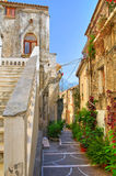 Alleyway. Diamante. Calabria. Italy. Royalty Free Stock Photo