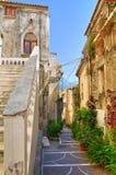Alleyway. Diamante. Calabria. Włochy. Zdjęcie Royalty Free