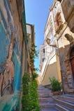 Alleyway. Diamante. Calabria. Włochy. Zdjęcia Stock