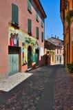 Alleyway. Dozza. L'Emilia Romagna. L'Italia. Fotografie Stock