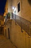 Alleyway entro la notte. Giovinazzo. Apulia. Fotografia Stock Libera da Diritti