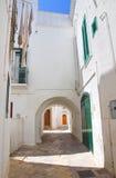 alleyway Fasano La Puglia L'Italia Immagini Stock Libere da Diritti
