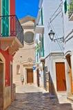 alleyway Fasano La Puglia L'Italia Fotografia Stock