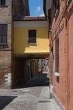 Alleyway. Ferrara. Emilia-Romagna. Italy. Stock Photo