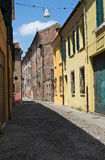 Alleyway. Ferrara. Emilia-Romagna. Italy. Stock Photography