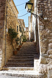 Alleyway in fornalutx, Mallorca Royalty Free Stock Photo