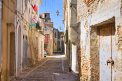 alleyway Genzano Di Lucania Italië stock foto