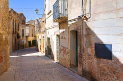 Alleyway. Genzano di Lucania. Italy. Royalty Free Stock Images