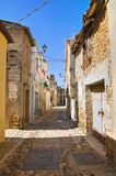 alleyway Genzano di Lucania L'Italia Immagine Stock
