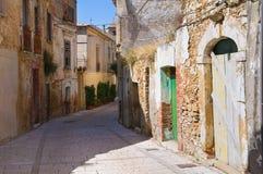 alleyway Genzano di Lucania L'Italia Immagini Stock