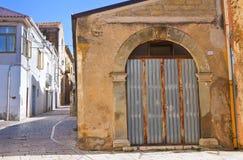 alleyway Genzano di Lucania L'Italia Fotografie Stock Libere da Diritti