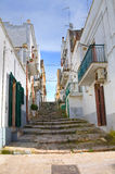 Alleyway. Ginosa. Puglia. Italy. Stock Photography