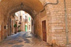 alleyway Giovinazzo La Puglia L'Italia Immagini Stock
