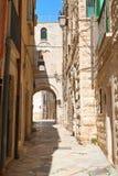alleyway Giovinazzo La Puglia L'Italia Fotografie Stock