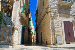 Alleyway. Giovinazzo. Puglia. Italy. Royalty Free Stock Photo