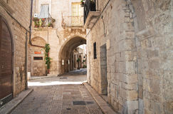 Alleyway. Giovinazzo. Puglia. Italy. Royalty Free Stock Photo