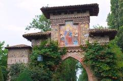 Alleyway. Grazzano Visconti. Emilia-Romagna. Italy. Stock Image