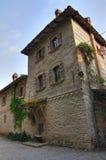 Alleyway. Grazzano Visconti. emilia. Włochy. obrazy royalty free