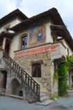 Alleyway. Grazzano Visconti. emilia. Włochy. Zdjęcia Stock