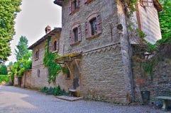 Alleyway. Grazzano Visconti. emilia. Włochy. Fotografia Stock