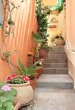 Alleyway in Greek City Royalty Free Stock Images