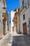 Alleyway. Grottaglie. Puglia. Italy. Perspective of an alleyway of Grottaglie. Puglia. Italy Royalty Free Stock Images