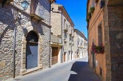 alleyway Guardia Perticara Basilicata Italië Stock Foto