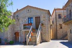 alleyway Guardia Perticara Basilicata Italië stock afbeelding