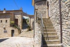 alleyway Guardia Perticara Basilicata Italië royalty-vrije stock foto's