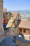 alleyway Guardia Perticara Basilicata Italia Foto de archivo libre de regalías