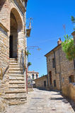 Alleyway. Guardia Perticara. Basilicata. Italy. Royalty Free Stock Photo