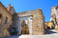 alleyway Guardia Perticara La Basilicata L'Italia Immagine Stock Libera da Diritti