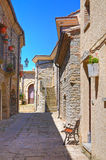 alleyway Guardia Perticara La Basilicata L'Italia Fotografia Stock Libera da Diritti