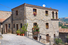 alleyway Guardia Perticara La Basilicata L'Italia Immagine Stock