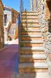 alleyway Guardia Perticara La Basilicata L'Italia Fotografie Stock