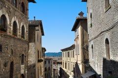alleyway Gubbio L'Umbria Immagine Stock Libera da Diritti