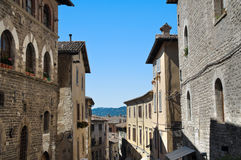 Alleyway. Gubbio. Umbria. Royalty Free Stock Photo