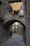 Alleyway.Gubbio. Umbria. Royalty Free Stock Photos