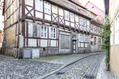 Alleyway with half-timbered houses Royalty Free Stock Photography