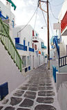 Alleyway In Mykonos Royalty Free Stock Photography