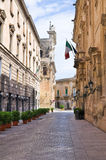 Alleyway. Lecce. Puglia. Italy. Royalty Free Stock Photography