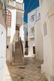 alleyway Locorotondo La Puglia L'Italia Fotografia Stock Libera da Diritti