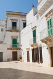 alleyway Locorotondo La Puglia L'Italia Fotografia Stock