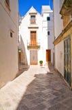 Alleyway. Locorotondo. Puglia. Italy. Royalty Free Stock Photo