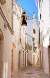 Alleyway. Locorotondo. Puglia. Italy. Royalty Free Stock Photos