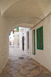 Alleyway. Locorotondo. Puglia. Italy. Royalty Free Stock Photos