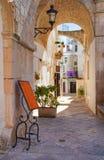 Alleyway. Locorotondo. Puglia. Italy. Royalty Free Stock Photography