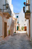 Alleyway. Locorotondo. Puglia. Italy. Stock Photos
