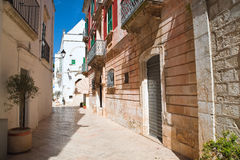 Alleyway. Locorotondo. Puglia. Italy. Royalty Free Stock Photo
